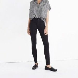 "Madewell Jeans - Madewell 9"" high rise skinny sateen jeans"
